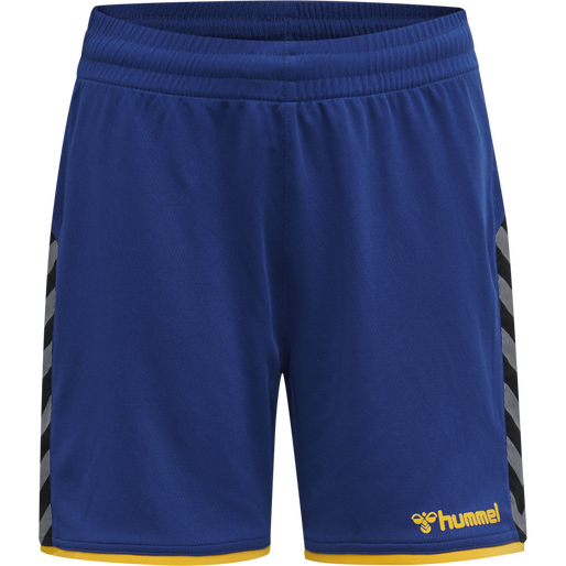 hmlAUTHENTIC KIDS POLY SHORTS, TRUE BLUE/SPORTS YELLOW, packshot