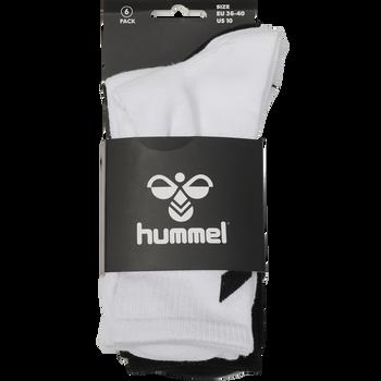 hmlCHEVRON 6-PACK SOCKS, WHITE/BLACK/GREY, packshot