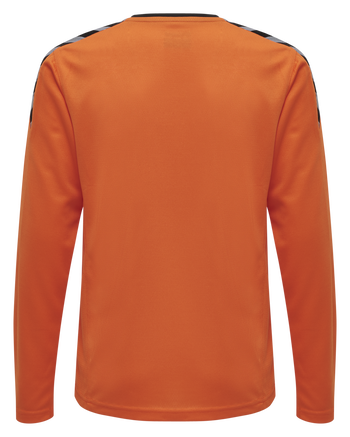 hmlAUTHENTIC KIDS POLY JERSEY L/S, TANGERINE, packshot
