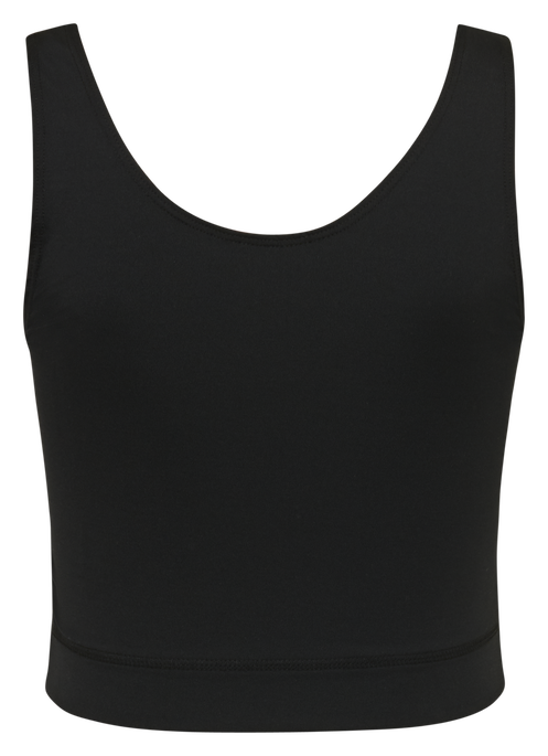 hmlSKIPPER CROPPED TOP, BLACK, packshot