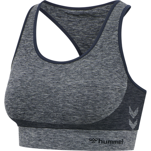hmlROSA SEAMLESS SPORTS TOP, BLUE NIGHTS MELANGE, packshot