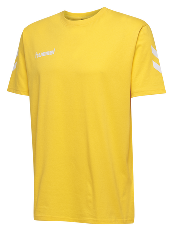 HUMMEL GO KIDS COTTON T-SHIRT S/S, SPORTS YELLOW, packshot