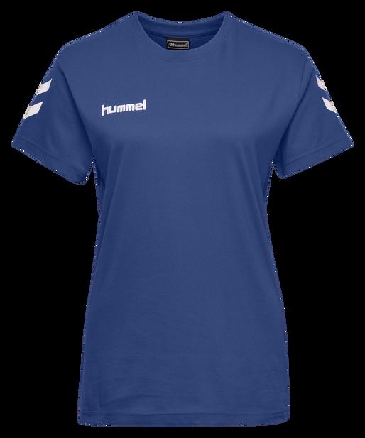 HUMMEL GO COTTON T-SHIRT WOMAN S/S, TRUE BLUE, packshot