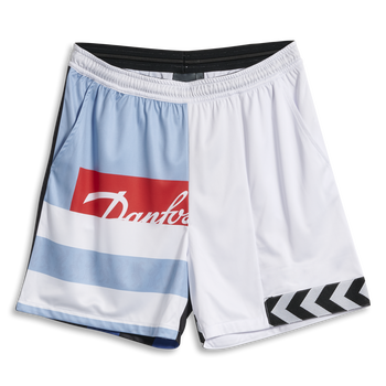 hmlNIELS NEWSTOCK PRINT SHORTS, WHITE, packshot