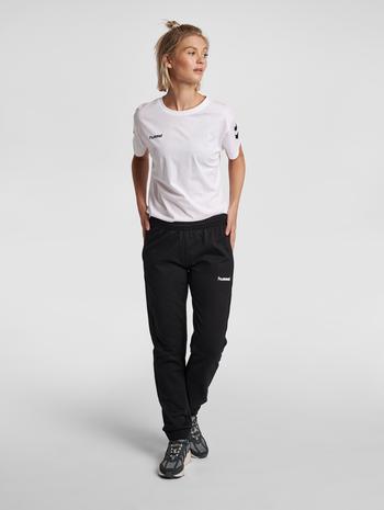 HUMMEL GO COTTON PANTS WOMAN, BLACK, model