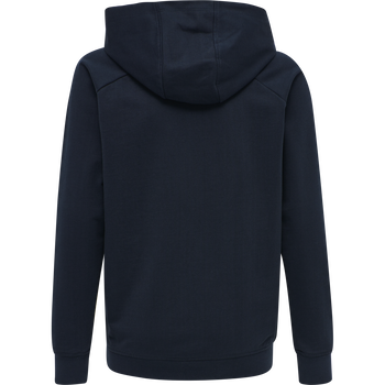 hmlACTION COTTON HOODIE KIDS, DARK SAPPHIRE/BLUE CORAL, packshot