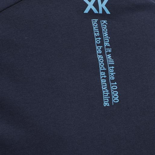 hmlACTION COTTON T-SHIRT KIDS, BLACK IRIS/ATOMIC BLUE, packshot