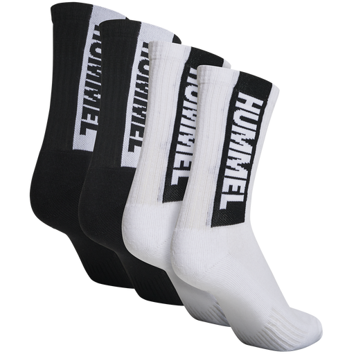 hmlLEGACY CORE 4-PACK SOCKS MIX, WHITE/BLACK, packshot