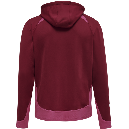 hmlLEAD POLY HOODIE, BIKING RED, packshot