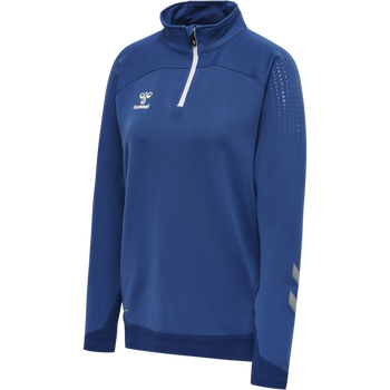 hmlLEAD WOMAN HALF ZIP , TRUE BLUE, packshot