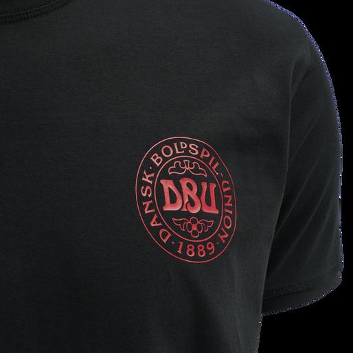 DBU TRAVEL T-SHIRT S/S, BLACK, packshot