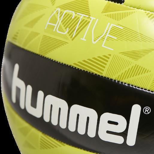 hmlACTIVE VOLLEY BALL, BLACK/SULPHUR, packshot