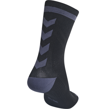 ELITE INDOOR SOCK LOW, BLACK/ASPHALT, packshot