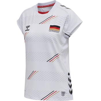 DVV 21 HOME JERSEY S/S WOMAN, WHITE, packshot