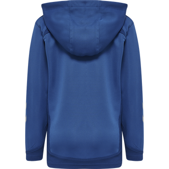 hmlLEAD ZIP POLY HOODIE KIDS , TRUE BLUE, packshot