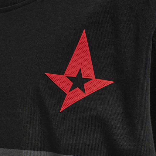 ASTRALIS T-SHIRT S/S KIDS, BLACK, packshot
