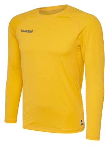 HUMMEL FIRST PERFORMANCE JERSEY L/S, SPORTS YELLOW, packshot