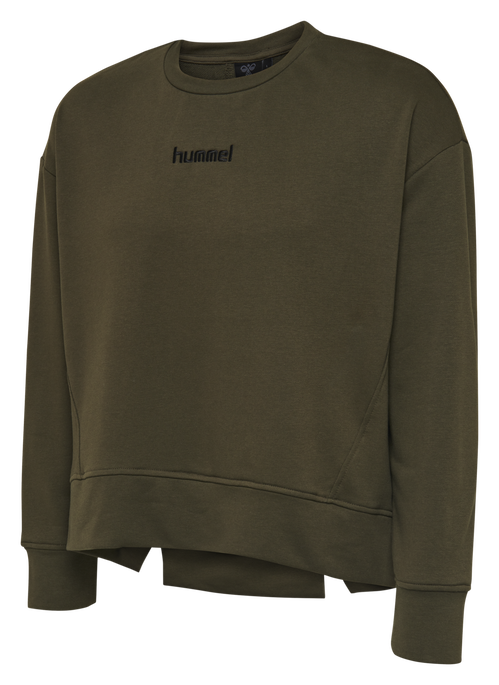 HMLPERLINA SWEAT SHIRT, ALENDO/NAVY, packshot