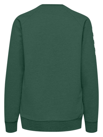 HUMMEL GO COTTON SWEATSHIRT WOMAN, EVERGREEN, packshot