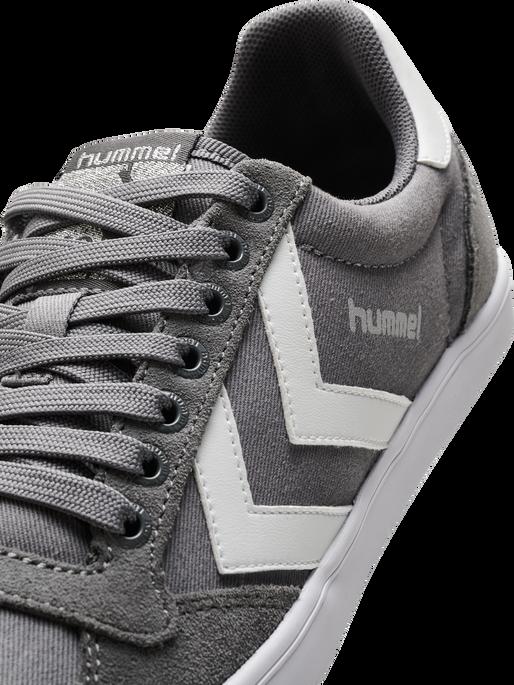 HUMMEL SLIMMER STADIL LOW, CASTLE ROCK/WHITE KH, packshot