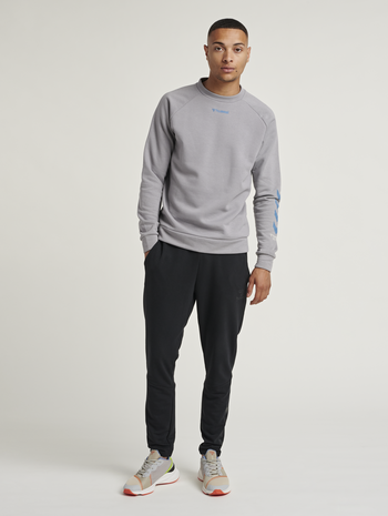 hmlISAM SWEATSHIRT, SHARKSKIN, model