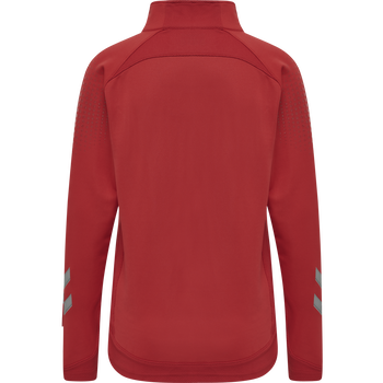 hmlLEAD WOMAN HALF ZIP , TRUE RED, packshot