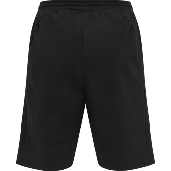 hmlACTION COTTON SHORTS, BLACK/FIESTA, packshot
