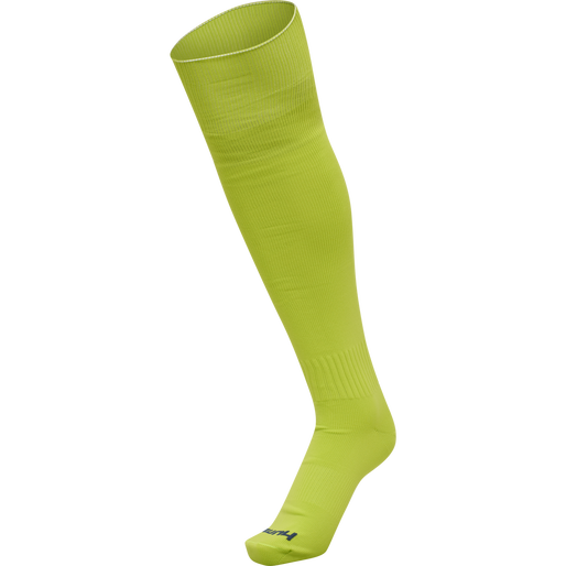 hmlPROMO FOOTBALL SOCK, LIME PUNCH, packshot