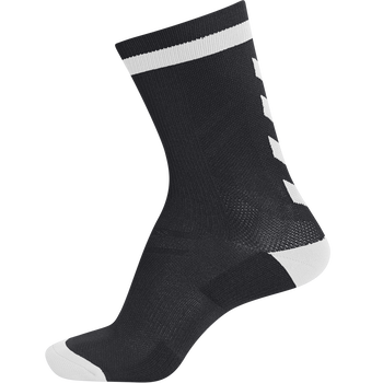 ELITE INDOOR SOCK LOW, BLACK/WHITE, packshot