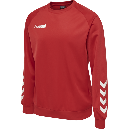 hmlPROMO KIDS POLY SWEATSHIRT, TRUE RED, packshot