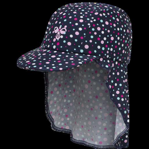 hmlBEACH SUN HAT, BLACK IRIS/SWEET LILAC, packshot