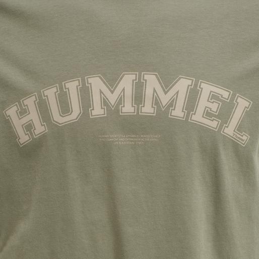 hmlVARSITY T-SHIRT, VETIVER, packshot