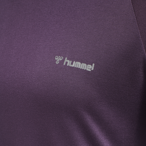 HMLSELINA T-SHIRT L/S TEE, BLACKBERRY WINE, packshot