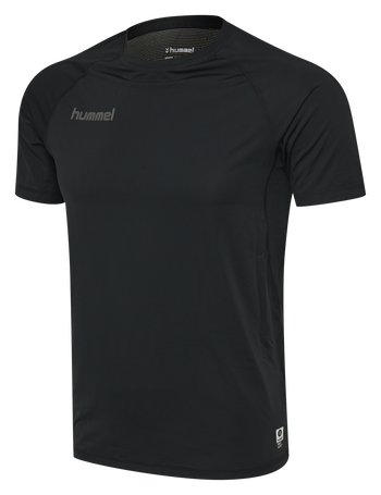 HUMMEL FIRST PERFORMANCE JERSEY S/S, BLACK, packshot