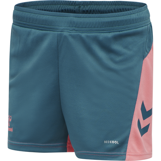 hmlACTION SHORTS WOMAN, BLUE CORAL/TEA ROSE, packshot