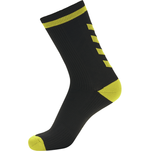 ELITE INDOOR SOCK LOW, BLACK/BLAZING YELLOW, packshot
