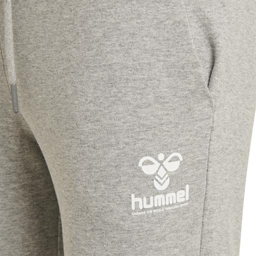 hmlNONI REGULAR PANTS, GREY MELANGE, packshot
