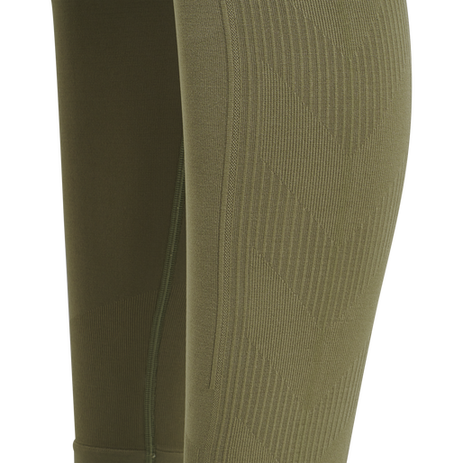 hmlTIF SEAMLESS HIGH WAIST TIGHTS, VETIVER, packshot