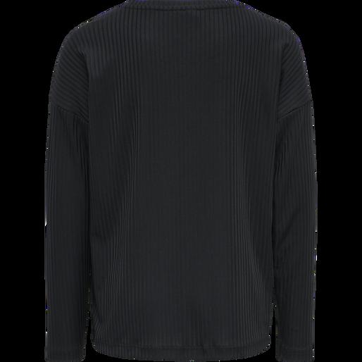 hmlJACKIE T-SHIRT L/S, BLACK, packshot