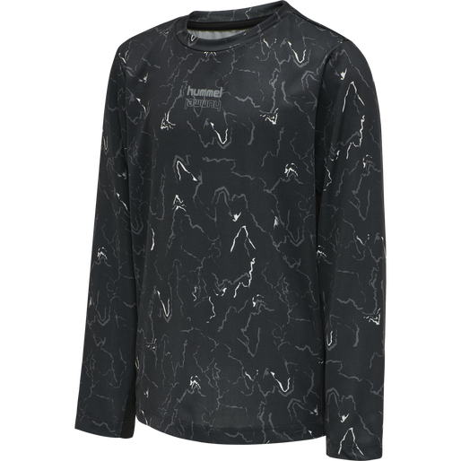 hmlNOAH T-SHIRT L/S, BLACK, packshot