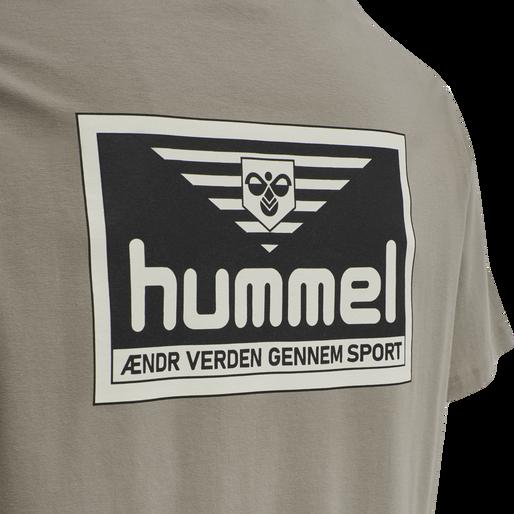 hmlFERIE T-SHIRT, DRIFTWOOD, packshot