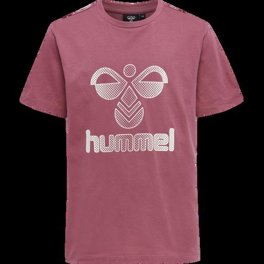 hmlPROUD T-SHIRT S/S, ROSE WINE, packshot