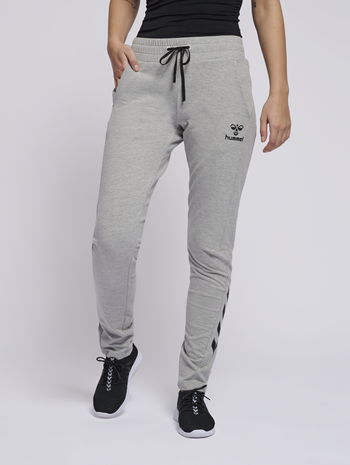 hmlNICA ENGINEERED PANTS, GREY MELANGE, model