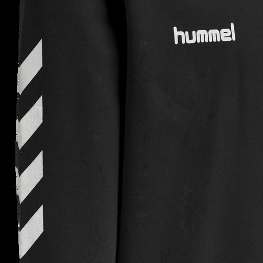 HUMMEL GO KIDS COTTON HOODIE, BLACK, packshot