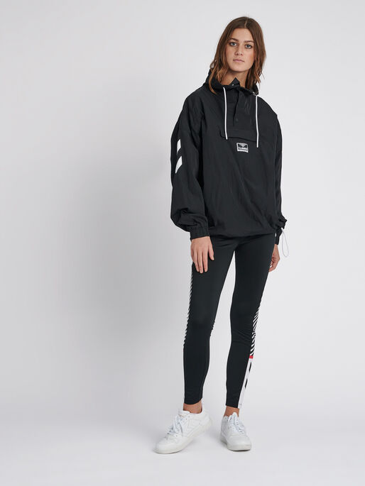 hmlCALISTA OVERSIZED ANORAK, BLACK, model