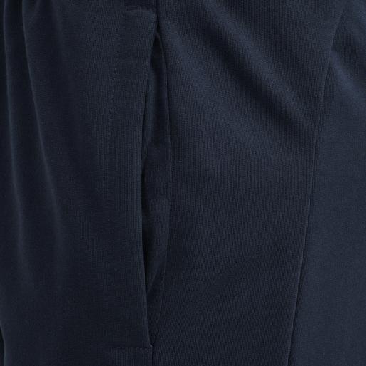 hmlACTION COTTON PANTS WOMAN, DARK SAPPHIRE/FIESTA, packshot