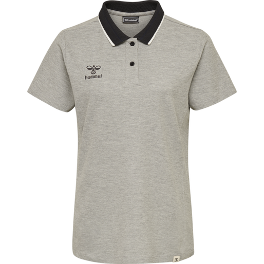 hmlMOVE POLO WOMAN, GREY MELANGE, packshot