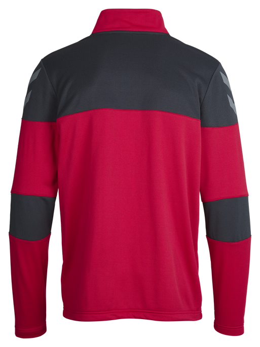 HUMMEL SIRIUS HALF ZIP SWEAT, VIRTUAL PINK/DARK SLATE, packshot