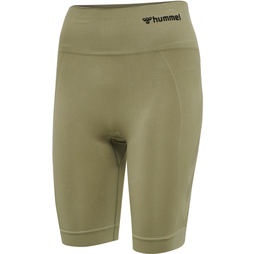 hmlTIF SEAMLESS CYLING SHORTS, VETIVER, packshot