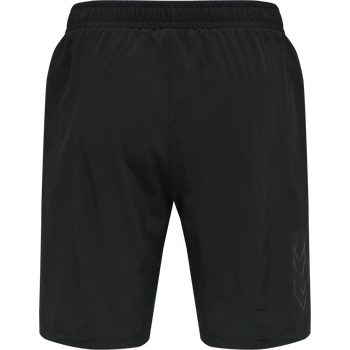 DBU TRAVEL SHORTS, BLACK, packshot
